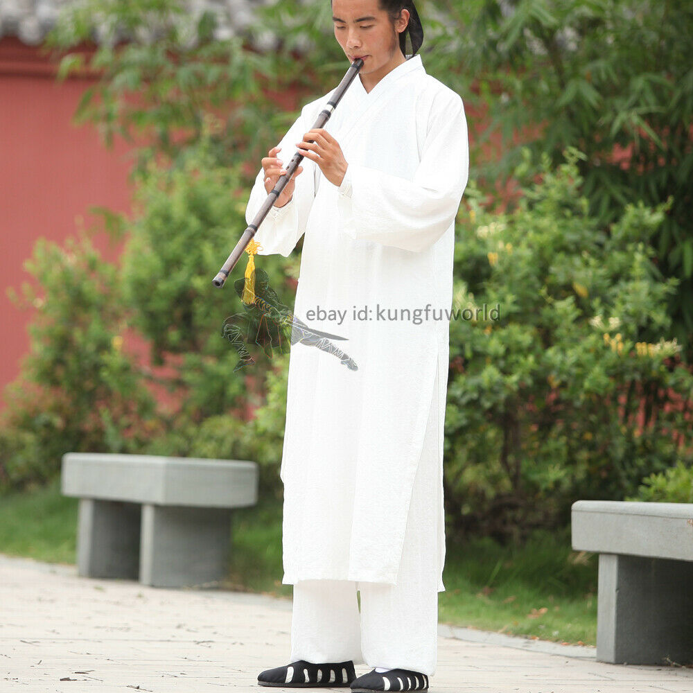 как выглядит Shaolin Monk Wudang Taoist Kung fu Robe Tai chi Uniform Wushu Martial arts Suit фото