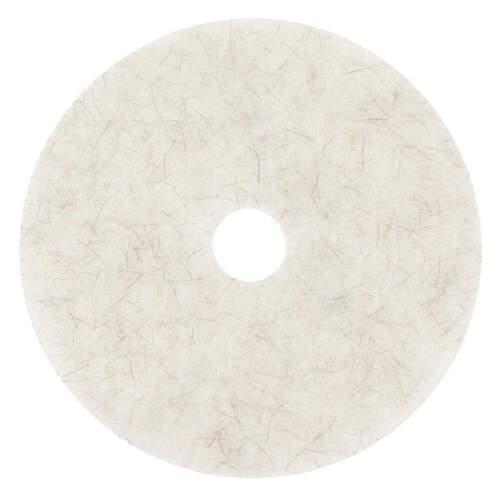"3M 3300 Burnish Pads 17"", Natural Blend, White, 5 Case"