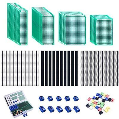 Smraza 100pcs Double Sided Pcb Board Kit Prototype Boards Diy Soldering Project