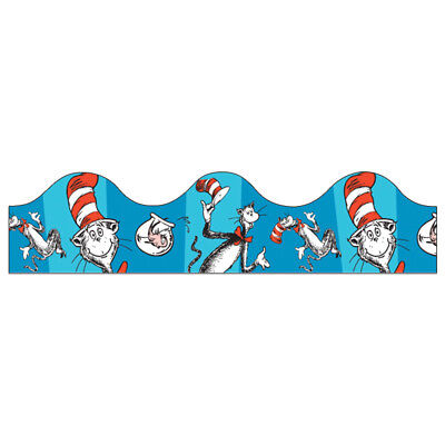 Hat Bulletin Board - EU 845017 Cat in the Hat Dr. Seuss Bulletin Board Trimmer Classroom Decorations