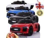 Children's Electric Audi R8 Spyder Ride On Car MP3, 12V New Design - Licensed Lights, Engine Sounds