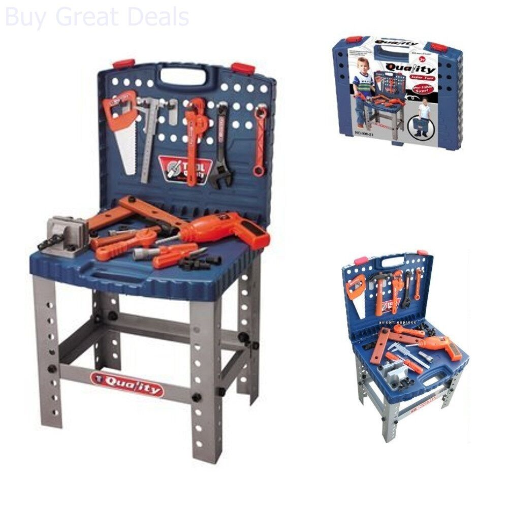 Admirable Details About Childrens Work Bench Kids Play Set With Tools Diy Tool Kit Construction Toy Boy Creativecarmelina Interior Chair Design Creativecarmelinacom