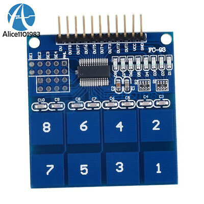 2pcs Ttp226 8 Channel Digital Capacitive Switch Touch Sensor Module For Arduino