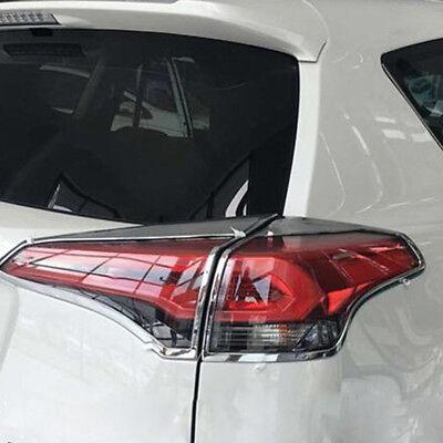ABS Chrome Rear Tail Light Lamp Cover Trim For Toyota RAV4 RAV 4 2016 2017 2018