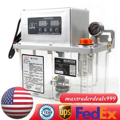 Electric Automatic Lubrication 4l Pump Machine Tool Lubrication Pump Us Stock