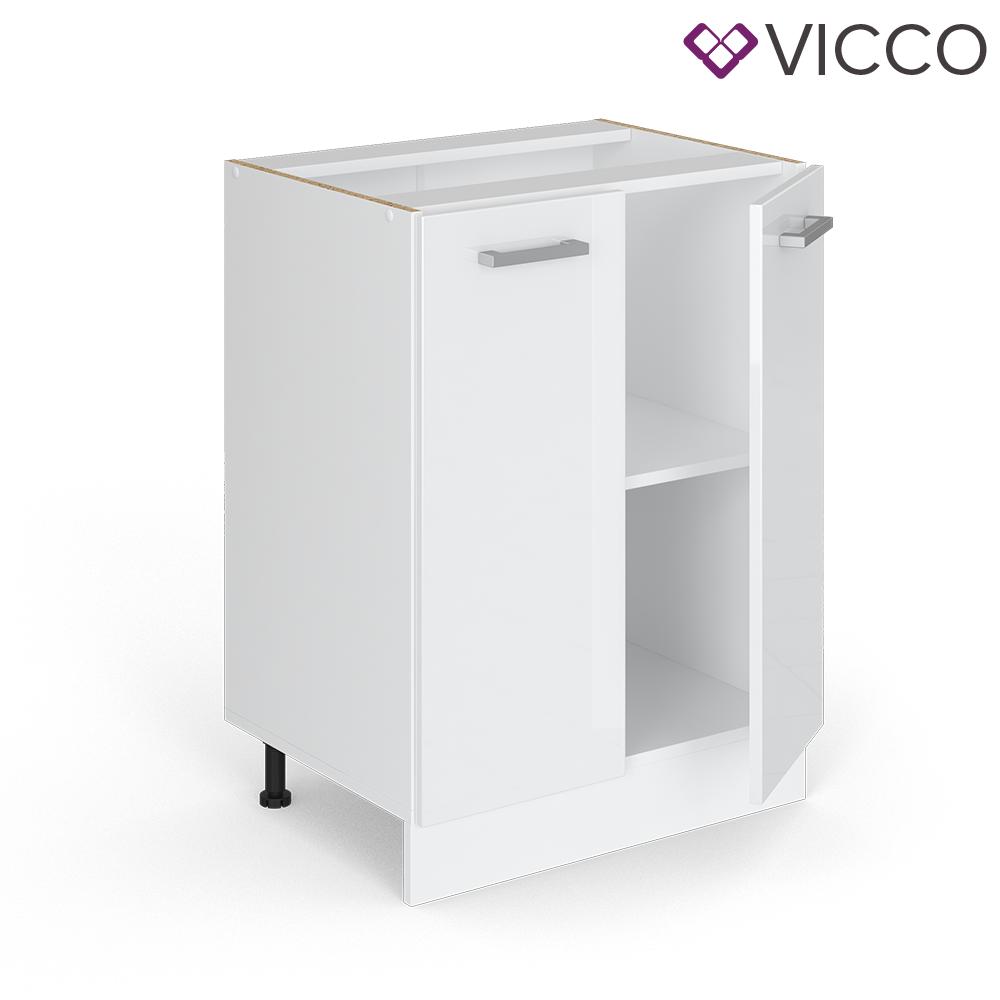 VICCO Küchenschrank Hängeschrank Unterschrank Küchenzeile R-Line Unterschrank 60 cm weiß