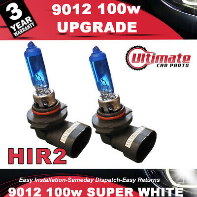 2 x 9012 HIR2 100w Super White High - Main Beam Headlight Bulb 12v DRL Fog Light