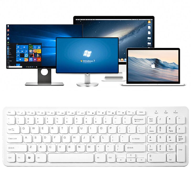 Keyboard Mini USB Wired 108 Keys Apple PC Laptop Ultra Thin Slim Compact Keypad