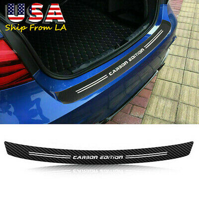 Accessories 4D Carbon Fiber Film Car Trunk Guard Plate Sticker Moulding Trim