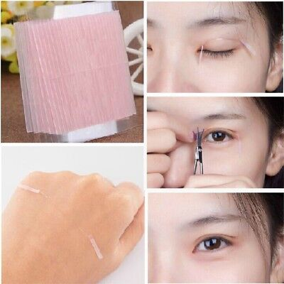 100PCS Invisible Fiber Double Sided Adhesive Eyelid Stickers Eye Tapes Practical