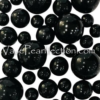 FLOATING No Hole Black Pearls-Jumbo/Assorted Sizes for Vase Decorations](Floating Pearls For Centerpieces)