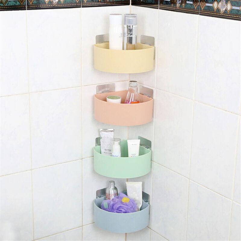 Cup Plastic Bathroom Shelf  Shower Holder Corner Storage Rack Shampoo Organizer