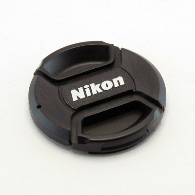 NIKON LC-72 STYLE 72MM CENTRE PINCH CLIP ON LENS CAP FOR NIKON WITH KEEPER CORD
