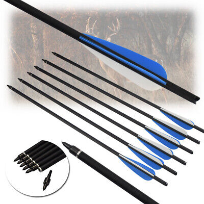 16/17/18/20/22 inch Crossbow Bolts Carbon Shaft Arrows Archery Hunting Shooting