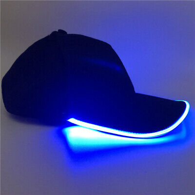 Adjustable LED Lighted Up Hat Glow Club Party Baseball Hip-Hop Golf Dance Cap - Led Lighted Hats