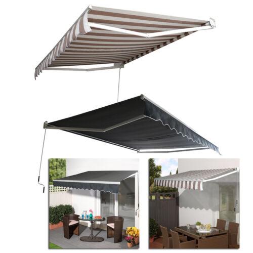 Aluminium Markisen 2 Farbe Sonnenschutz mit Gelenkarmmarkise Terrasse Balkon