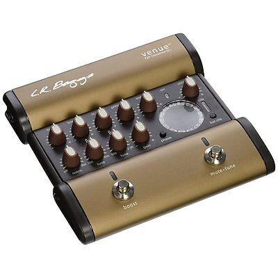 LR Baggs Venue DI 5 Band EQ Acoustic Guitar Effect Pedal w/ Full Chromatic Tuner
