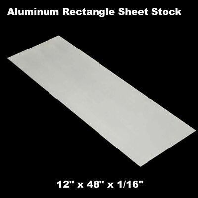 Aluminum Rectangle Sheet Stock 12 X 48 X 116 3003 Alloy Mill Finish Plate