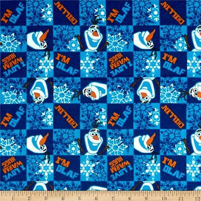 DISNEY FROZEN OLAF CHILLIN SPRINGS CREATIVE 100% BRUSHED COTTON FLANNEL (Chillin Flannel)