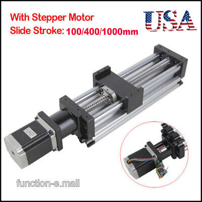 100-1000mm Ball Screw Linear Cnc Slide Stroke Long Stage Actuator Stepper Motor