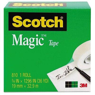 Scotch Magic Tape Clear 34 X 1296 1 Ea Pack Of 4