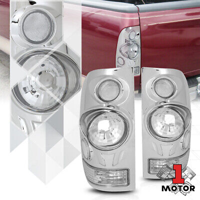 Chrome/Clear*3D EURO ALTEZZA*Tail Light Brake Lamp for 97-03 F150 99-07 F250 SD
