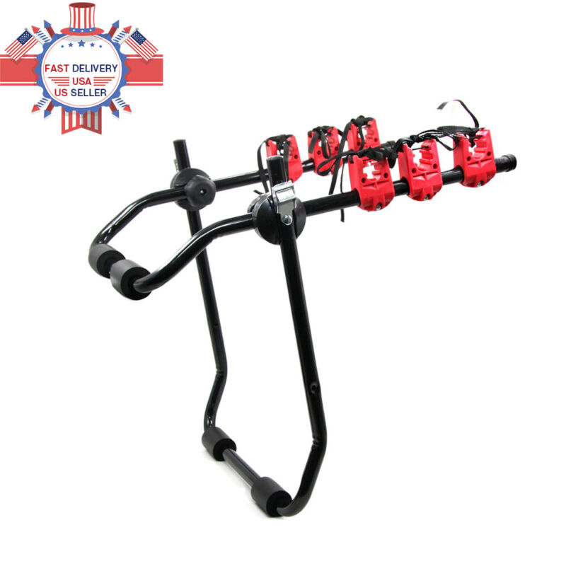 3Bike Trunk Mount Rack Bicycle Carrier Hatchback for SUV Car Truck Rack ABS New