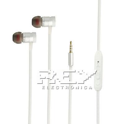Auriculares Blancos IN-EAR RXIX con control Volumen y Micrófono Blanco. s168