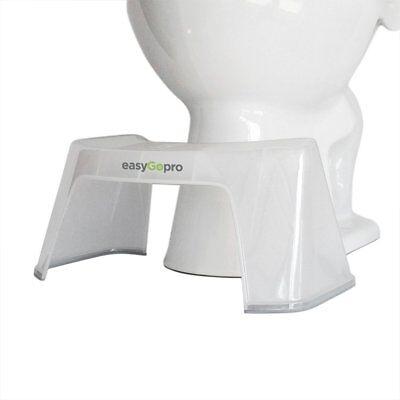 "EasyGopro Go Time Just Got Easier 7.5"" Bathroom Toilet Stool |Pedicure FootRest"