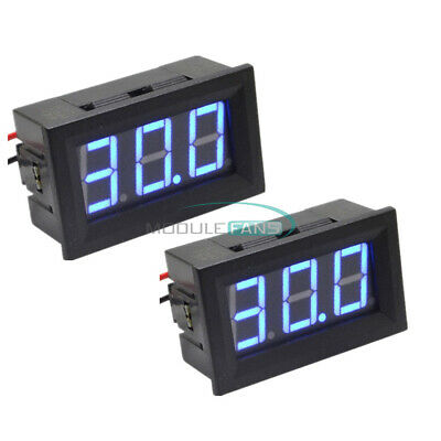 0.56 2-wire Dc5v120v Voltmeter 3 Digital Blue Led Voltage Volt Meter For Car