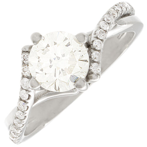 Antique Design Round Cut Diamond Engagement Ring 2.60 CT GIA Certified
