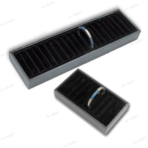 2-Black Display Ring Tray Cuff Display Bracelet Display for ring Cufflink Holder