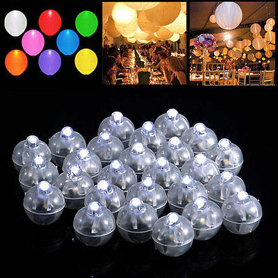 - 50 LED Ball Lamps Balloon Light for Paper Lantern Wedding Party Decoration White