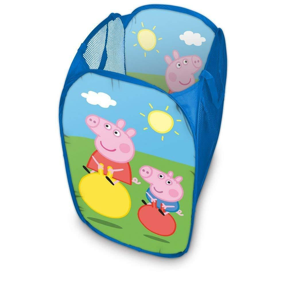 Peppa Wutz Laundry Basket Toy Box Storage Kid's Room Pig New