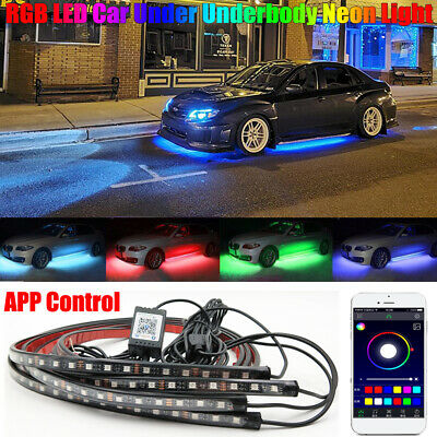 RGB LED Car Neon Light Chassis Atmosphere Lamp Kit For Honda Nissan Subaru Audi