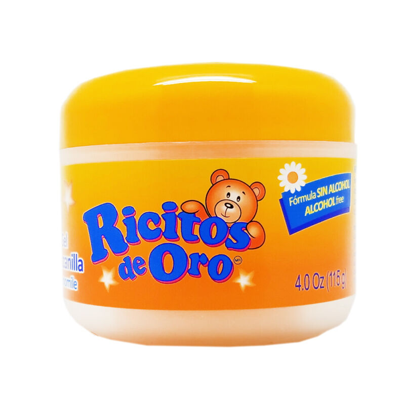Ricitos De Oro Chamomile Baby Styling Gel. Natural and Alcohol Free. 4.0 Fl.Oz.
