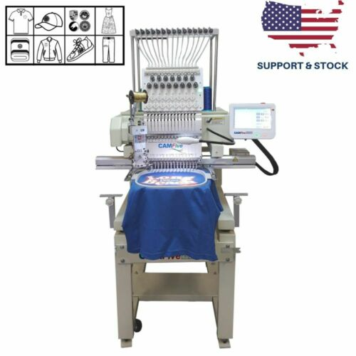01 HEAD 15 COLORS CAMFIVE EMB HT1501 SINGLE HEAD COMMERCIAL EMBROIDERY MACHINE