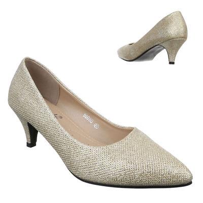 GLITTER PUMPS DAMENSCHUHE DESIGNER NEU Gr 36 Gold - Glitter Gold Schuhe