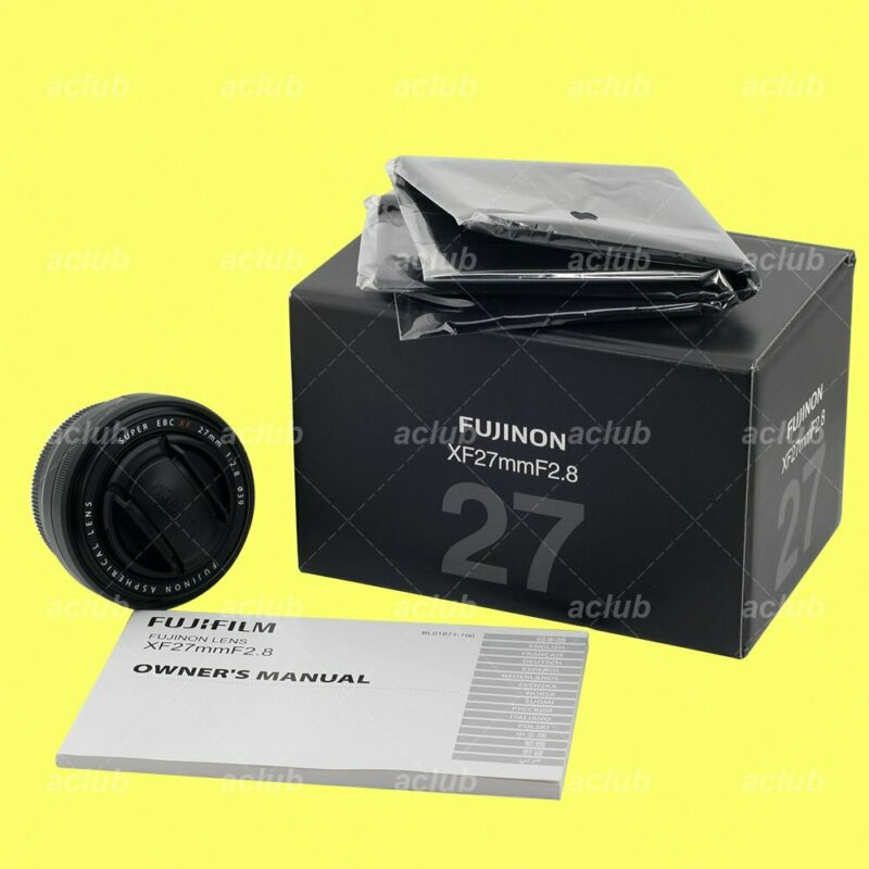 Genuine Fujifilm Super-EBC Fujinon XF 27mm f/2.8 Lens (Black)