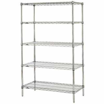 Metro 5n357c Super Erecta 18 X 48 X 74 Chrome Wire Stationary Shelving Unit