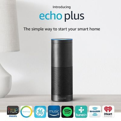 New  Amazon Echo Plus With Built In Smart Hub   Alexa  Black