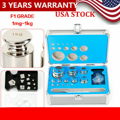 25pcs Stainless Steel Grade F1 Calibration Scale Weight Kit Set 1 Mg -1 Kg Usa