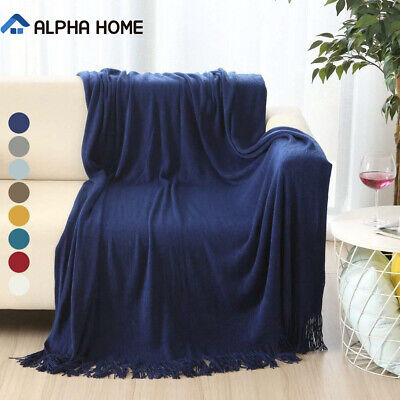 ALPHA HOME Soft Throw Blanket Warm & Cozy for Couch,Sofa, Chair, Bed - 50