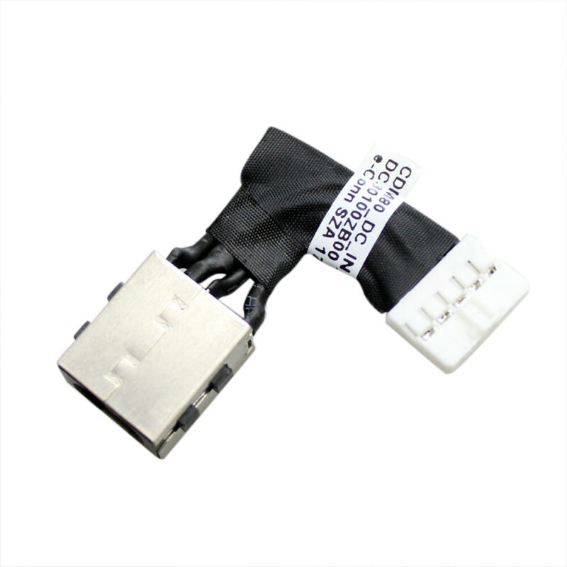 Dc Power Jack Cable Harness For Dell Precision M3520 3530 Cn: 098c6h Dc30100zb00