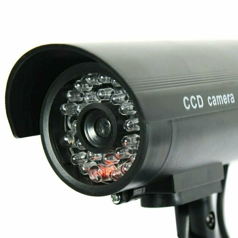 4 Pack IR Bullet Fake Dummy Surveillance Security Camera CCTV Record Light B1-4