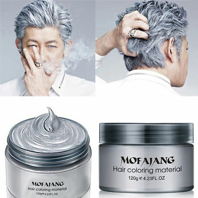 Mofajang DIY Hair Color Wax Mud Dye Cream Temporary Modeling White](White Hair Dye Temporary)