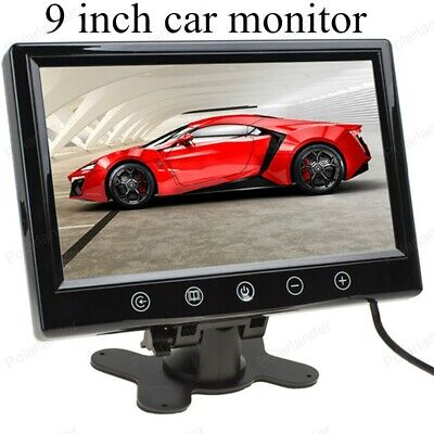 - 9 inch Car Monitor TFT Color LCD Screen 2 Video input Work for DVD/VCD/amera/STB