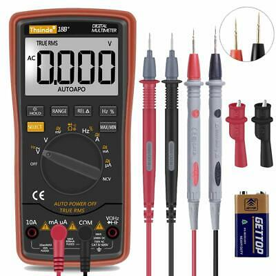 Digital Multimeter Fluke Meter Amp Ohm Voltmeter Autorange Volt Tester Ac Dc New