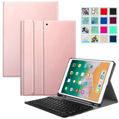 (Bluetooth Keyboard Case Cover For iPad Pro 10.5 w/ Built-in Apple Pencil Holder)