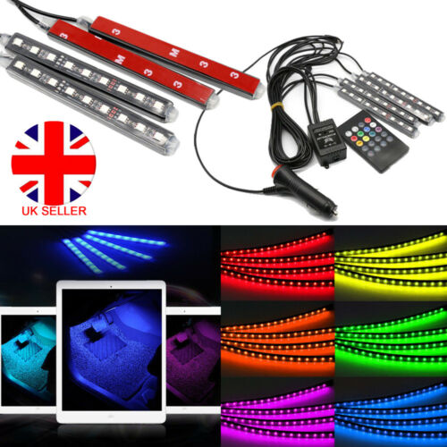 Car Parts - LED RGB Car Interior Atmosphere USB Lights Strip Colors Decor Lamps 12V Footwell